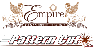 Pattern Cut, Inc. / Empire Ornament Supply, Inc. - (714) 765-8138 - Providing the world with the finest custom made Decorative Laser Cut Wood Vent Grilles, Laser Cut Panels, Decorative Architectural Ornamentation, Decorative Moldings, and Design Details.