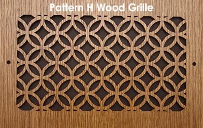 Laser Cut Wood Grilles Vent Covers Pattern H Patterncut