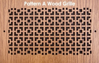 "Wood Vent Grille - Pattern ""A"" Design"