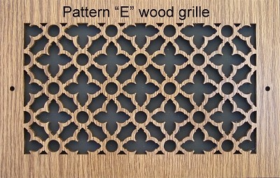 Laser Cutting Wood Vent Grilles