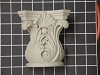 Acanthus Leaf Capitol with Shell - 4-5/8