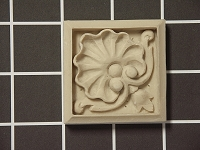 Door Surround Floral Plinth Block