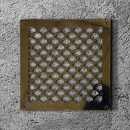 Polished Brass Air Filter Grille