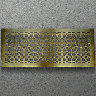 steel grille polished brass plate finish
