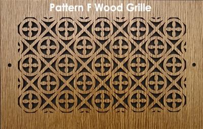 Laser Cut Wood Grilles Vent Covers F Design Patterncut