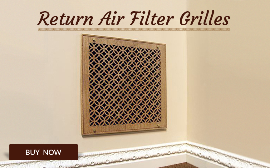 Millwork Wood Grille : Decorative wood wall vent return air grille pattern cut