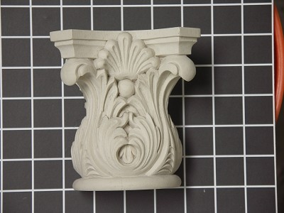 "Acanthus Leaf Capitol with Shell - 4-5/8"" W x 5"" H x 2-3/4"" D"