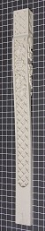 "Basket Weaved Column with Grapes - 3-1/4"" W x 34-1/2"" H x 2-3/8"" Thick (Flat Back)"