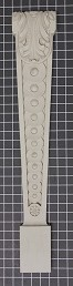 "Acanthus Leaf with Circle Repeat Column - 5"" W x 28-1/2"" H x 2"" Thick (Flat Back)"