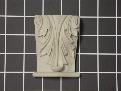 "Acanthus Leaf Corbel with Base - 2-1/2"" W x 3-1/4"" H x 1-1/8"" D"