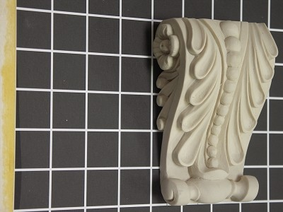 "Acanthus Leaf Corbel with Beads - 3-3/8"" W x 5"" H x 1-3/8"" D"