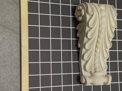 "Acanthus Leaf Corbel with Beads - 3-1/2"" W x 7"" H x 2"" D"