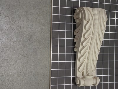 "Acanthus Leaf Corbel with Beads - 4-1/8"" W x 10-1/4"" H x 2-3/4"" D"