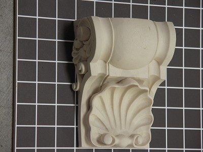 "Profile Corbel with Shell Bottom - 4-3/4"" W x 6"" H x 2-5/8"" D"
