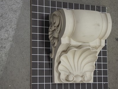 "Profile Corbel with Shell Bottom - 8-5/8"" W x 9-7/8"" H x 5-1/2"" D"