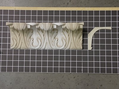 "Acanthus Cove Crown - 8' L x 4"" H x 4"" D"