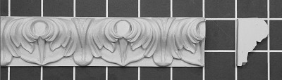 "Acanthus Leaf - 8' Long x 1-1/2"" H x 1"" Thick."