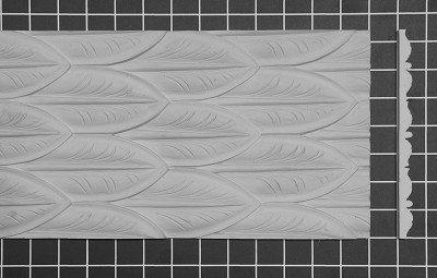"Layered Leaf Panel  - 8' L x 7-3/8"" H x 1/2"" Thick"