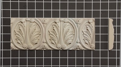 "Acanthus Leaf Repeat - 8' Long x 4"" H x 5/8"" Thick."