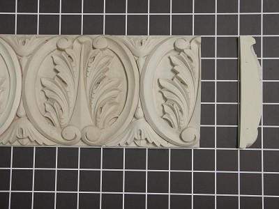 "Acanthus Leaf Repeat - 8' L x 5"" H x 1"" Thick"