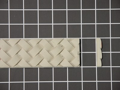 "Basket Weave - 8' Long x 2"" H x 3/8"" Thick."