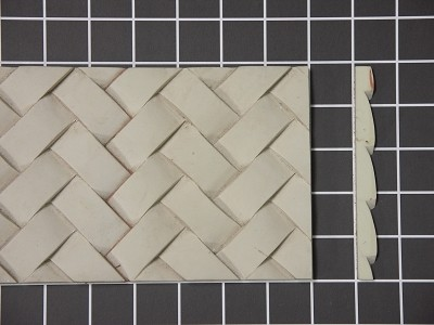 "Basket Weave - 8' Long x 5"" H x 7/16"" Thick."
