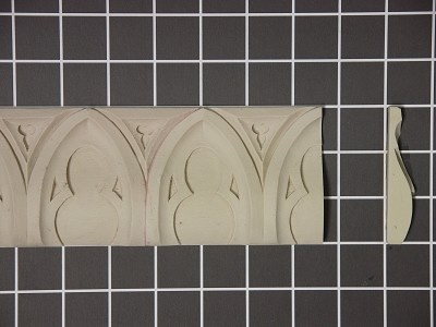 "Moorish Arch Repeat - 8' L x 3"" H x 3/4"" Thick"