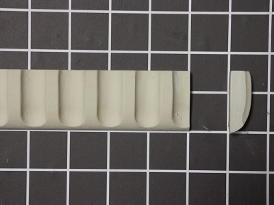 "Simple Dentil Moulding - 8' L x 1-1/2"" H x 1/2"" Thick"