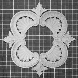 "Acanthus Leaf & Shell - 20-3/8"" W x 20-3/8"" H x 1"" Thick (2 halves)"