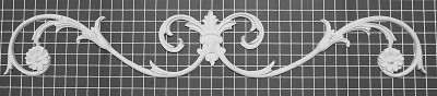 "Carved Vine Center Piece - 37"" W x 6"" H x 5/8"" Thick - Architectural Decoration"