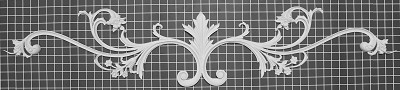 "Vine with Acanthus Leaf Center - 49"" W x 9-1/2"" H x 3/4"" Thick - Architectural Decoration"