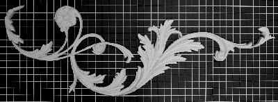 "Left and Right Carved Leaf Vine - 39-1/2"" W x 13"" H x 1"" Thick (Sold in Pairs) Ornamental Architectural Decoration"