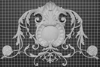 "Carved Acanthus Leaf and Shell Vine - 33-1/2"" W x 21-1/4"" H x 2"" Thick - Architectural Decoration"
