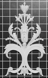 "Floral Vine Scroll - 5-3/4"" W x 10"" H x 1/2"" Thick - Architectural Decoration"