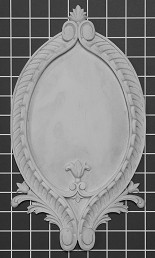 "Framed Shield - 7"" W x 12-3/4"" H x 3/4"" Thick - Architectural Decoration"