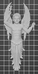 "Male Angel - 6-3/8"" W x 13-1/2"" H x 1"" Thick - Architectural Decoration"