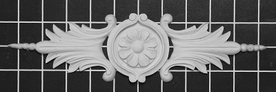 "Framed Rosette Center Piece - 10-7/8"" W x 2-1/2"" H x 1/2"" Thick - Architectural Decoration"
