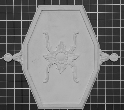 "Octagon Shield - 15-5/8"" W x 13-3/4"" H x 5/8"" Thick - Architectural Decoration"