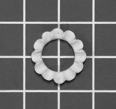 "Petal Ring - 1-1/2"" W x 1-1/2"" H x 3/8"" Thick - Architectural Decoration"