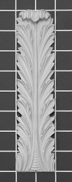 "Acanthus Leaf - 2"" W x 8"" H x 1/2"" Thick - Architectural Decoration"