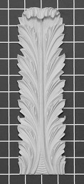 "Acanthus Leaf - 2-7/8"" W x 10"" H x 5/8"" Thick - Architectural Decoration"