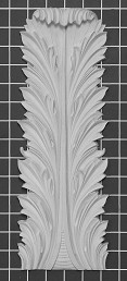 "Acanthus Leaf - 5"" W x 14"" H x 3/4"" Thick - Architectural Decoration"