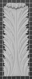 "Acanthus Leaf - 5-3/4"" W x 16"" H x 1"" Thick - Architectural Decoration"