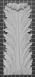 "Acanthus Leaf - 7-1/2"" W x 17-3/4"" H x 1-1/4"" Thick - Architectural Decoration"