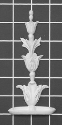 "Stem - 2-5/8"" W x 5-3/4"" H x 1/2"" Thick - Architectural Decoration"
