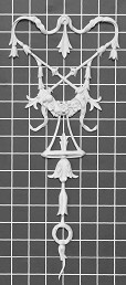 "Scroll with Floral Festoon Center - 6-3/8"" W x 15-3/8"" H x 1/2"" Thick - Architectural Decoration"
