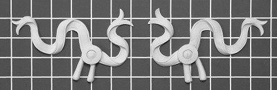 "Left and Right Ribbon - 6"" W x 3-3/4"" H x 1/2"" Thick (Sold in Pairs) Ornamental Architectural Decoration"