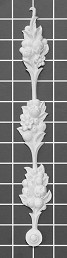 "Floral Stem Drop - 1-1/2"" W x 11-5/8"" H x 1/2"" Thick - Architectural Decoration"