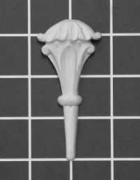 "Stem - 1-5/8"" W x 3-3/8"" H x 5/8"" Thick - Architectural Decoration"