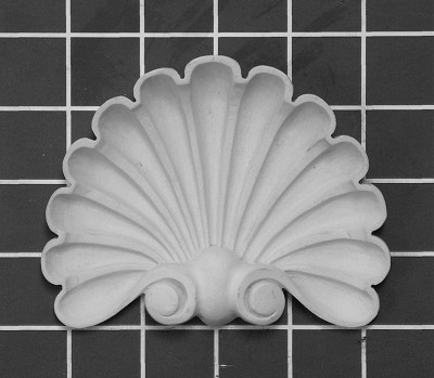 "Shell - 4-3/4"" W x 3-3/4"" H x 1"" Thick - Architectural Decoration"